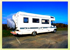 Mohican Motorhome (Julie (thanks for 9 million views)) Tags: 100xthe2019edition 100x2019 image50100 mohicanmotorhome vehicle hipstamaticapp slievecoiltia bluesky iphonese wexford ireland irish