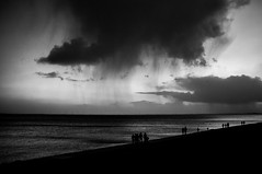 rain is in the air (ro_ha_becker) Tags: wilhelmshaven sky himmel wolken clouds silhouette monochrome zwartwit schwarzweiss biancoenero blancetnoir blackandwhite blancoynegro
