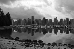 Downtown Vancouver Reflection (Tom_Jones7) Tags: travel travelling life city adventure travelphotography travelbug passion travelmore goexplore newplaces myview explorer photo photograph photographer lifestyle canon road trip roadtrip bc british columbia canada 2017 2k17 vancouver downtown reflection stanley park skyline beach black white bw bnw blackwhite monochrome blackwhitephoto excellentbnw noir blackwhitelife noirvision contrast boats yacht photographyislife photographerlifestyle justgoshoot icatching exploringtheworld optoutside exploretocreate discover discoverearth travelphoto worldpics stayandwander goroam keepexploring travelworld mylifeinphotos