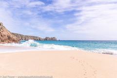 More beautiful waves at Porthcurno beach, Cornwall (Zoë Power) Tags: turquoisesea beach uk cornishcoast sand waves cornwall porthcurno sea