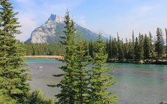 Cascade Mountain and Bow River (Yesi Santacruz) Tags: canadianrockies banffnationalpark canada alberta banff nature mountain water bowriver casademountain