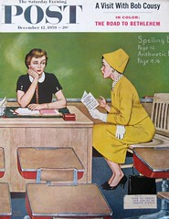 """Parent-Teacher Conference"" (Retro Reveries) Tags: amos sewell 1950s 1950samerica americana saturdayeveningpost 1950sart illustration 1950sillustration funny vintage midcentury 50sillustration magazinecover nostalgia history vintageprint retroart retro 1959 teacher"
