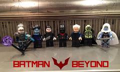 Batman Beyond (bricksfreaks) Tags: dc dccomics lego custom comics customminifigures customlego customfigures figures minifigures minifigs bricksfreaks bricks freaks superheroes supervillains inque batman beyond brucewayne blight curare joker gotham mrfreeze