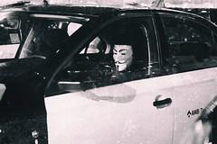 Anonymous (michael_hamburg69) Tags: barcelona spain spanien barcelone barcelonés barcelonesa barcellona espagne españa spagna xībānyá katalonien catalonia cataluña taxi streik taxistreik taxicab cab strike huelga paro ocupado huelgadeltaxi anonymous mask maske
