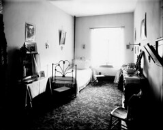 Bedroom at Coligny Ladies' College on the southwest corner of Albert and Bay streets in Ottawa, Ontario / Chambre à coucher au collège pour femmes Coligny au coin sud-ouest des rues Albert et Bay, Ottawa (Ontario) (BiblioArchives / LibraryArchives) Tags: lac bac libraryandarchivescanada bibliothèqueetarchivescanada canada sleep beds bed colignyottawaladiescollege albert bay ottawa ontario bedroom williamjamestopley september1895 septembre1895 lit lits endormi endormie