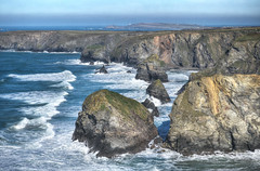 North coast of Cornwall (Baz Richardson) Tags: cornwall northcornwall bedruthansteps trevosehead cliffs seastacks stormyseas