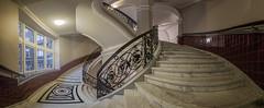 Rundherum Fidelbum (Blacklight Fotografie) Tags: panorama pano treppenhaus treppe treppen staircase stairwell stairs stair cottenstairs window windows fenster reise reisen travel city stadt marmor architektur architecture geländer