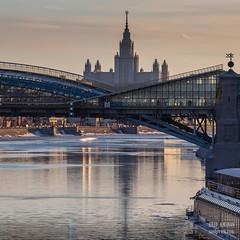 H18A6372 (Said Aminov) Tags: москва закат россия город moscow city sunset river bridge building march street sky ship