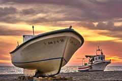 Barcas al atardecer (ZAPIGATA) Tags: cabodegata almeria andalucia europe beach barco sunset sky nubes cielo clouds zapigata