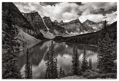 Moraine Lake (.Wadders) Tags: lakemoraine canada canadianrockies banffnationalpark water bw d600 nikkor1635mmf4 mountains lake landscape