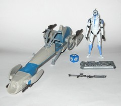 barc speeder bike with clone trooper jesse star wars the clone wars blue black packaging vehicle and figure 2010 hasbro a (tjparkside) Tags: barc speeder bike with clone trooper jesse star wars 2010 hasbro black blue packaging basic action figure figures vehicle vehicles clones troopers blaster blasters rifle rifles phase 1 i bikes speeders galactic battle game stand silver display base general grievous saleucami biker advanced recon commando commandos 501st white