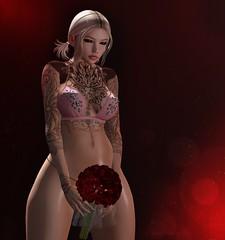 The roses are kissing my skin. (Yuna.Styles) Tags: maitreya bloggingsl fashion catwahead love secondlife secondlifeevents secondlifefashion secondlifeposes kustom9 foxyhair ckeyposes menjail