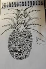 Bob l'éponge Carré (pepette.flaux) Tags: draw dessin mandala ananas motif
