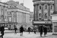 Looking towards Grey Street, Newcastle upon Tyne (alisonhalliday) Tags: monochrome blackwhite newcastleupontyne architecture cityscape buildings canoneos77d canonefs18135mm cmwdblackandwhite cmwd