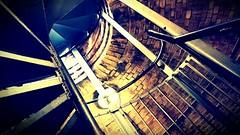follow me (pix-4-2-day) Tags: neuesrathaus hannover hanover treppe wendeltreppe spiral staircase stairs steps stufen farbe bunt colour colourful aufstieg turm tower dome kuppel geländer railing light licht bricks backsteine handlauf
