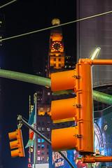 Watch Your Head (Jocey K) Tags: sonydscrx100m6 triptocanadaandnewyork architecture buildings evening illumination billboards timessq nighttourhopandhopoffbus trafficlights