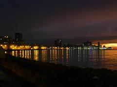 malecon at night (Jackal1) Tags: havana cuba night reflections sea malecon wall city lights skyline sunset