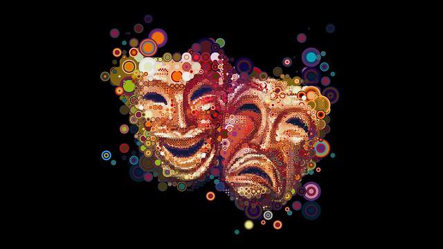 Обои маски, эмоции, красочный, разноцветный картинки на рабочий стол, фото скачать бесплатно