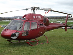 M-EXPL Aerospatiale Ecureuil AS-355N Helicopter (Select Plant Hire Ltd) (Aircaft @ Gloucestershire Airport By James) Tags: cheltenham helipad mexpl aerospatiale ecureuil as355n helicopter select plant hire ltd egbc james lloyds