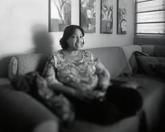 Mrs. Romero (Eddie La Mole) Tags: celeste home family portrait blackandwhite monochrome availablelight 4x5 5x4 calumetcadetwide largeformat monorail cameramovements fujinonswd90