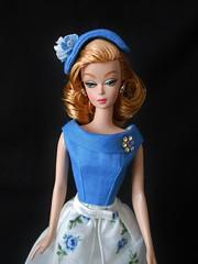 The Waitress Silkstone wearing Hankie Chic (ksavoie1213) Tags: ooakbarbie ooakdolls xiaolan thewaitress dolls silkstone silkstonebarbie barbie robertbest 2006silkstonecollection hankiechic