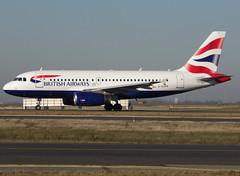 G-EUPR, Airbus A319-131, c/n 1329, BA/BAW/Speedbird/British Airways, CDG/LFPG 2019-02-15, taxiway Delta. (alaindurandpatrick) Tags: cn1329 geupr a319 a319100 airbus airbusa319 airbusa319100 microbus jetliners airliners ba baw speedbird britishairways airlines cdg lfpg parisroissycdg airports aviationphotography