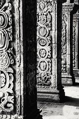 Motifs typiques de colonnades d'Arequipa, Pérou