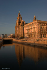 Liver building (Neil Adams Photography (Wirral)) Tags: liverpool liverbuilding waterfront lowlight sunlight sunset