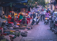 After Market (TheWildFireOne) Tags: finished hoian busy market urban packingup moped city bikes vegtables vietnam dinner evening