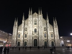 Duomo di Milano by night (Claudio e Lucia Images around the world) Tags: duomo milano night nightshot cathedral church marble iphone iphone6plus