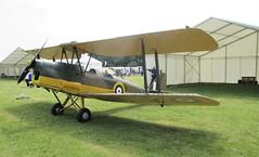 De Havilland DH.82A Tiger Moth T-7109 at RAF Cosford Airshow on 10.06.18 (Trevor Bruford) Tags: de havilland dh82a tiger moth t7109 raf cosford airshow shropshire west midlands 100 years aircraft airplane planes aviation biplane wwi