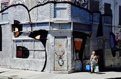 BTH (Alex L'aventurier,) Tags: montréal quebec canada street rue wall mur art graffiti tag candid woman femme urban urbain ville city