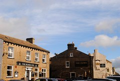 Three pubs in a row (zawtowers) Tags: hawes north yorkshire upper wensleydale dales england countryside rural market town famous cheese saturday 16th february 2019 dry sunny bright place blue sky board inn crown fountain pub public house boozer