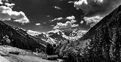 White Mountains (Iso_Star) Tags: alpen sony alps ilce6500 pz18105mm monochrome bw einfarbig natur nature gebirge berge mountains forrest wald alm sky wolken himmel clouds landschaft panorama austria hohetauern nationalpark schwarzweiss landscape