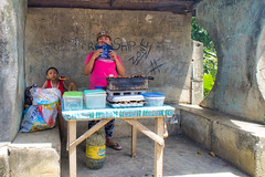 Snack Bar (Beegee49) Tags: street food what woman child snacks happy planet cooking sony luminar a6000 silay city philippines asia