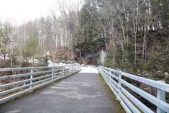 Bridges Across the Water Falls (hbickel) Tags: twobridges railroadbridges railing canont6i canon photoaday pad