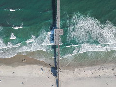 Ventnor City New Jersey (cditzPhoto) Tags: beach new jersey nj njspots beaches ocean atlantic coast pier surf summer sun drone photography dji spark drones waves wave water usa travel sand green blue