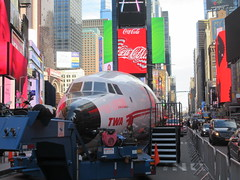 2019 Celebration of Retro TWA Hotel - Wingless Plane Times Square 4521 (Brechtbug) Tags: 2019 celebration retro twa hotel brooklyn wingless 1958 lockheed constellation connie l1649a starliner airplane visits times square before heading trans world airlines new yorks john f kennedy international airport known york anderson field commonly idlewild city march 23rd nyc 02232019