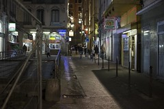 . (Le Cercle Rouge) Tags: lyon france night nuit darkness light terreaux humans shadows silhouettes streets rues