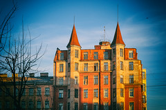 The building with two towers (ivan_ko) Tags: architecture saint petersburg colorful house building street nikon d3000 nikkor afs 5018