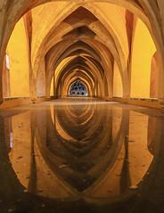 königliche Bäder im Real Alcazar (ulrichcziollek) Tags: spanien andalusien sevilla realalcazar bad reflektion