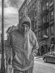 The Street Holds Memories (J MERMEL) Tags: older man shopping lower east side