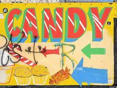 Candy (KaDeWeGirl) Tags: newyorkcity brooklyn coneyisland candy sign color explore
