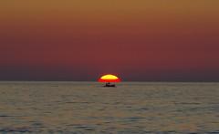 3KB07513a_C (Kernowfile) Tags: pentax cornwall cornish stives porthmeorbeach sunset sun fishingboat boat sky cloud water ripples reflection man person pentaxforums