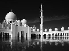Sheik Zayed Mosque #1, Abu Dhabi (Thunderbird61) Tags: sheikhzayedmosque abudhabi uae vae mosque marble reflection schwarzweis blackwhite zwartwit noirblanc neroblanco nigeralbus architecture sw bw zw nb mediumformat mono monochrome pentax pentaxart sundaylights