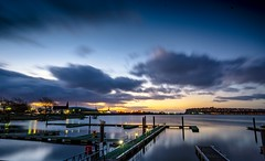 Cardiff Bay (Wales) at dawn (LooksTidy) Tags: wales cardiff cardiffbay sunrise sonya5100 dawn water reflections