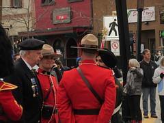 Mounties and vets (jamica1) Tags: kelowna okanagan bc british columbia canada remembrance day november 11th parade rcmp grc royal canadian mounted police mounties