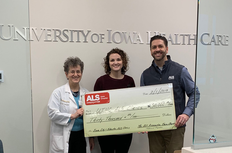 Donation from the ALS Assoc. Iowa Chapter