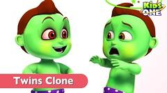 GREENY KIDDO CLONE  TWINS FUN in Real Life for Children KidsOne (maheshbabu96420) Tags: greeny kiddo clone wins fun for kids twins real life funny prank superheroes children