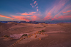 Pockets And Waves (Travis Rhoads) Tags: 2019 sonyilce7rm2a7rii sony1635f28gm reallyrightstuff ba72l bh55 rrspcl01 tvc33 clouds desert goldenhour landscapephotography mountains nationalpark nikcollectionbygoogle sunset textures thegoldenhour copyright2019 travisrhoadsphotography california deathvalleynationalpark mesquiteflatsanddunes sanddune